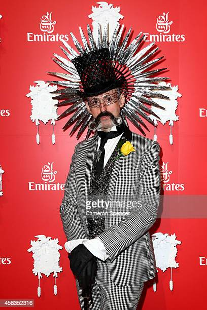Richard Nylon poses at the Emirates Marquee on Melbourne Cup Day at Flemington Racecourse on November 4 2014 in Melbourne Australia