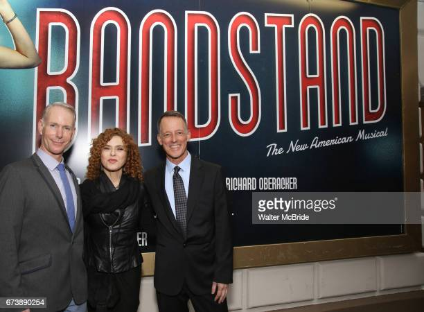 Richard Oberacker Bernadette Peters and Robert Taylor attend the Broadway Opening Night performance of 'Bandstand' at the Bernard B Jacobs Theatre on...