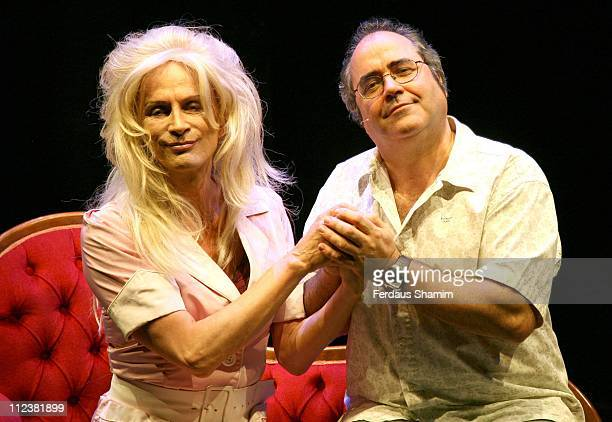 Richard O'Brien and Danny Baker during The Rocky Horror Show Theatre Photocall April 16 2007 at New Wimbledon Theatre in London Great Britain