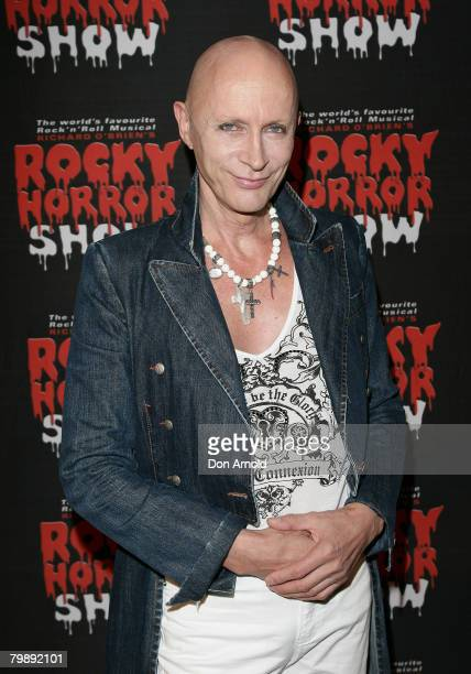 """Richard O'Brien arrives for the """"Rocky Horror Show"""" held at Star City on February 21, 2008 in Sydney, Australia."""