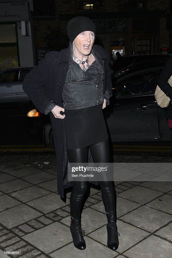 Richard O'Brien attends the opening night of The Rocky Horror Picture Show at New Wimbledon Theatre on January 21, 2013 in Wimbledon, England.