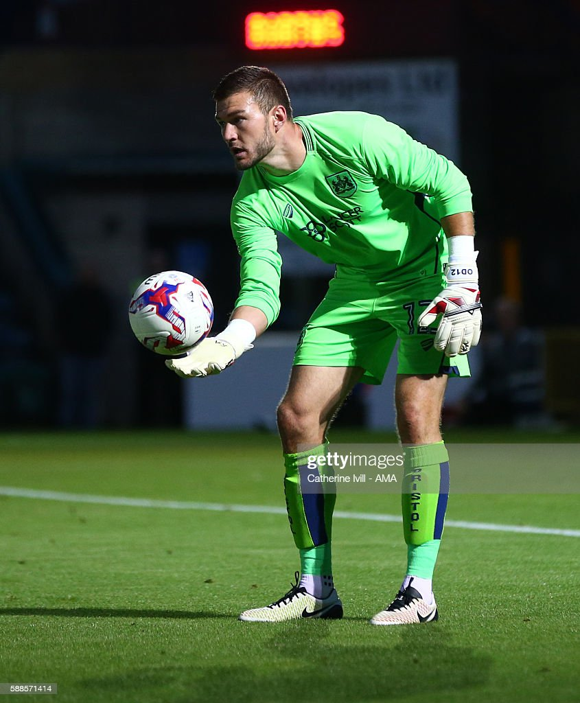 Richard O'Donnell of Bristol City during the EFL Cup match between Wycombe Wanderers and Bristol City at Adams Park on August 8, 2016 in High Wycombe, England.