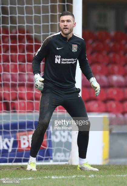 Richard O'Donnell of Northampton Town during the pre match warm up prior to the Sky Bet League One match between Bradford City and Northampton Town...