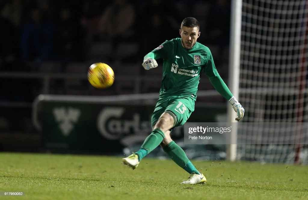 Richard O'Donnell of Northampton Town in action during the Sky Bet League One match between Northampton Town and Gillingham at Sixfields on February 13, 2018 in Northampton, England.