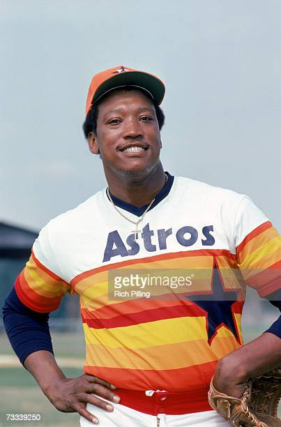 Richard of the Houston Astros poses for a photo. Richard played for the Astros from 1971-1980.