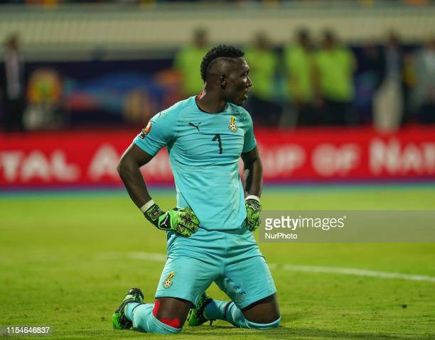 Richard Ofori of Ghana after another goal scored against him on penalty during the 2019 African Cup of Nations match between Ghana and Tunisia at the...
