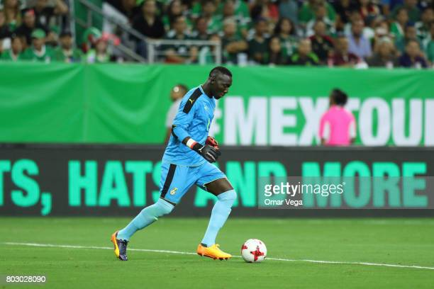 Richard Ofori of Ghana plays the ball during the friendly match between Mexico and Ghana at NRG Stadium on June 28 2017 in Houston Texas