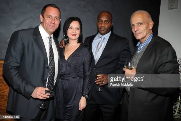 Richard Olsen Annette Schatz Lynwood Bibbens and Peter Macri attend MAX AZRIA Fall 2010 Collection Dinner at Shang on February 16 2010 in New York...