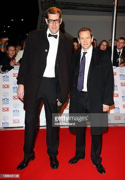 Richard Osman and Alexander Armstrong attend the National Television Awards at 02 Arena on January 23 2013 in London England