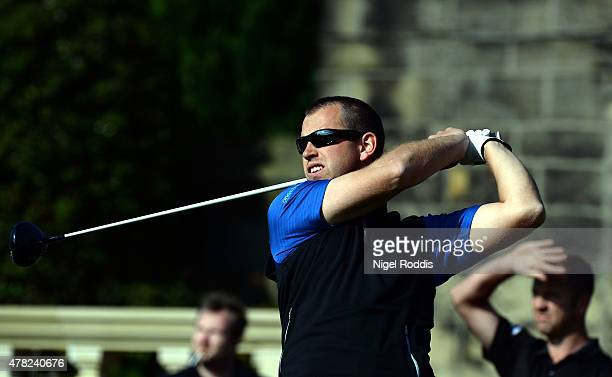 Richard Pace in action during the Golfbreakscom PGA Fourball Championship North Qualifier at Woodsome Hall Golf Course on June 24 2015 in...