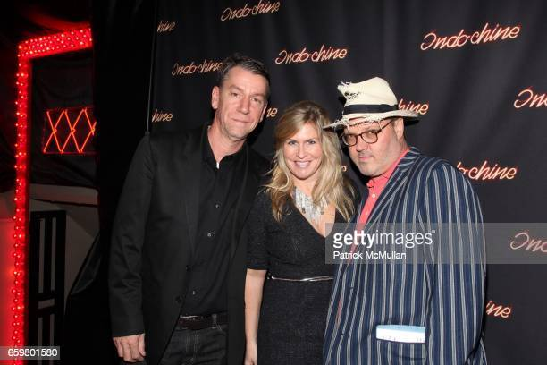 Richard Pandiscio Kim Vernon and Todd Eberle attend INDOCHINE'S 25th Anniversary Celebration at Indochine on November 20 2009 in New York
