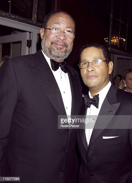 Richard Parsons and Bryant Gumbel during 2nd Annual UNICEF Snowflake Ball Arrivals at The Waldorf Astoria Hotel in New York City New York United...