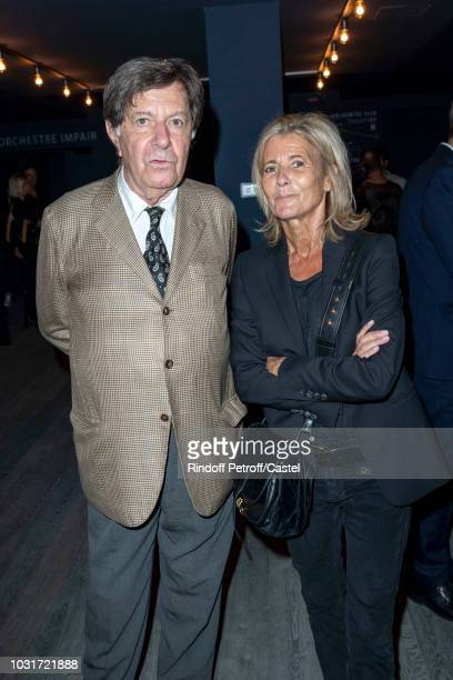 Richard Peduzzi and Claire Chazal attend La Scala reopens on September 11 2018 in Paris France