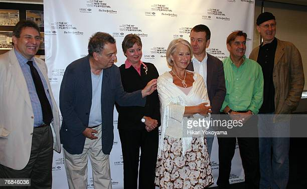 Richard Pena Stephen Frears director Claudia Bonn Helen Mirren Pater Morgan writer Andy Harries producer and James Cromwell