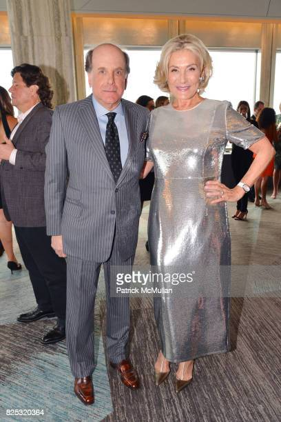 Richard Perlman and Susan Magrino attend Magrino PR 25th Anniversary at Bar SixtyFive at Rainbow Room on July 25 2017 in New York City