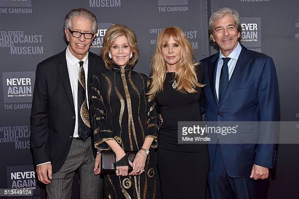 Richard Perry Jane Fonda Rosanna Arquette and Todd Morgan attend the United States Holocaust Memorial Museum presents 2016 Los Angeles Dinner What...