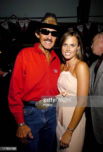 Richard Petty and Amanda Beard during ESPN's 25th Anniversary Celebration Inside at ESPN Zone Times Square in New York City New York United States