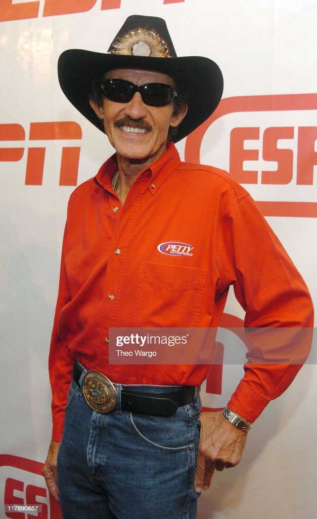 Richard Petty during ESPN's 25th Anniversary Celebration - Arrivals at ESPN Zone - Times Square in New York City, New York, United States.