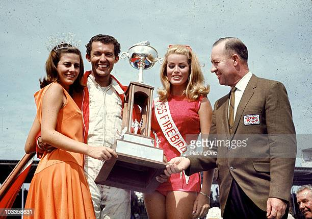 Richard Petty in victory lane after winning the Southern 500 NASCAR Cup race at Darlington Raceway