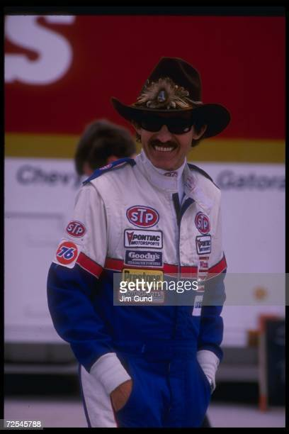 Richard Petty looks on before the First Union 400 at North Wilkesboro Speedway in North Wilkesboro North Carolina