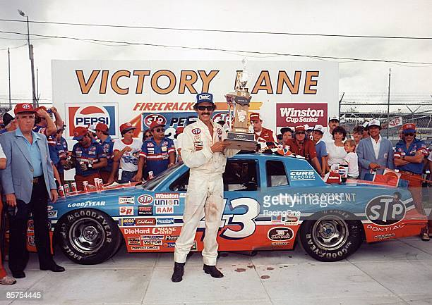 Richard Petty recorded his 200th, and final, NASCAR Cup Series win at the 1984 Firecracker 400.