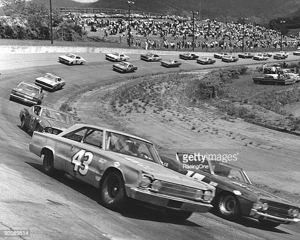 Richard Petty rides outside of David Pearson in the Western North Carolina 500 at AshevilleWeaverville Speedway Bobby Allison emerged the victor