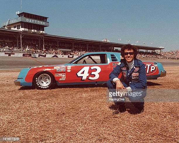 Richard Petty with the Petty Enterprises Dodge Mirada at Daytona International Speedway Petty took 33rd in the Daytona 500 in February but had a nice...