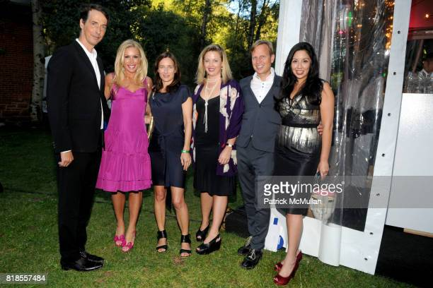 Richard Phillips, Amy Phelan, Josephine Meckseper, Philae Knight, Will Cotton and Veronica Fernandez attend ASPEN ART MUSEUM hosts artCRUSH 2010 at...