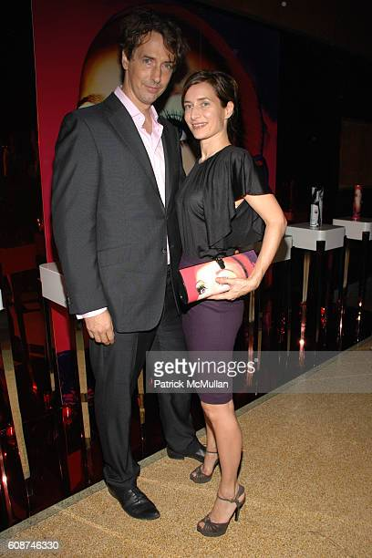 Richard Phillips and Josephine Meckseper attend JIMMY CHOO Dinner hosted by Tamara Mellon and Richard Phillips at The Raleigh on December 7, 2007 in...