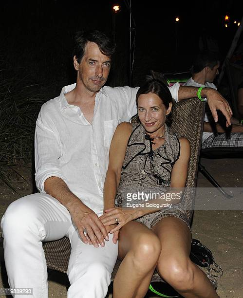 Richard Phillips and Josephine Meckseper attend the Tommy Hilfiger presentation of a screening of Sight Sound a surf film by Mickey DeTemple at The...