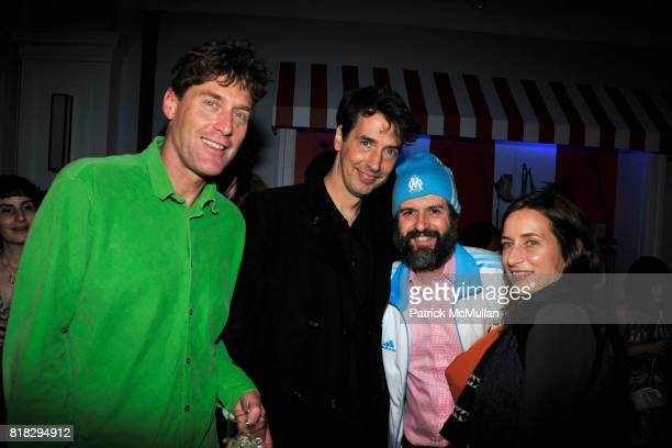 ?, Richard Phillips, Harry Marcopoulos and Josephine Meckseper attend WHITNEY BIENNIAL Preview After Party at Tommy Hilfiger on February 23, 2010 in...