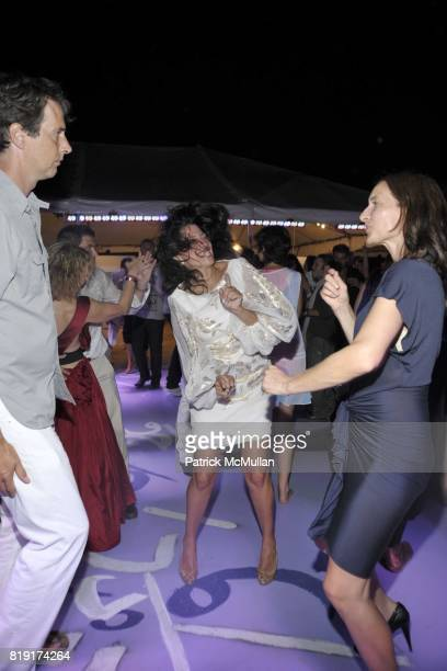 Richard Phillips, Lisa Anastos and Josephine Meckseper attend Paradiso: The 17th Annual Watermill Summer Benefit 2010 at Watermill Center on July 24,...