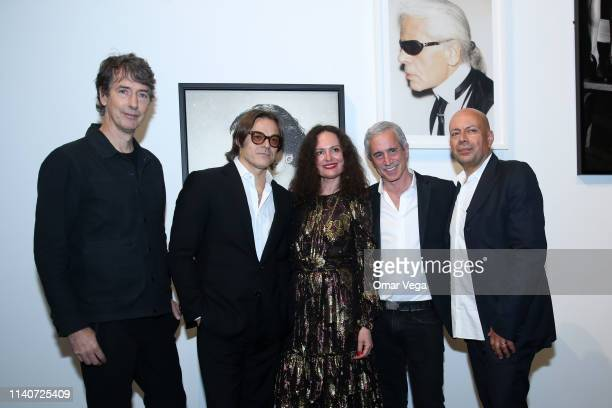 Richard Phillips Mario Sorrenti Yelena Yemchuk Dennis Freedman and Francesco Clemente attend the Dallas Contemporary Spring Gala at Dallas...