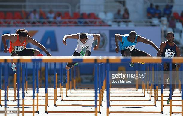 Richard Phillips of Jamaica wins the 110mt with steeplechase at the GP Brazil Caixa 2012 at Engenhao stadium on May 20, 2012 in Rio de Janeiro,...