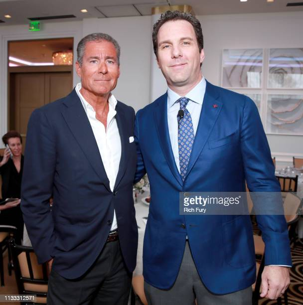 Richard Plepler and Editorial Director at The Hollywood Reporter Matthew Belloni attend The Hollywood Reporter Power Lawyers Breakfast 2019 at...