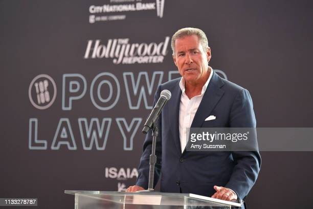 Richard Plepler speaks onstage at The Hollywood Reporter Power Lawyers Breakfast 2019 at Waldorf Astoria Beverly Hills on March 28 2019 in Beverly...