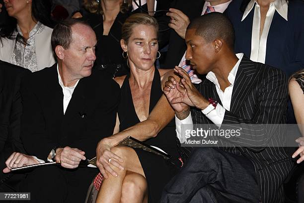 Richard Prince and his wife with William Farrel attends the Louis Vuitton fashion show, during the Spring/Summer 2008 ready-to-wear collection show...