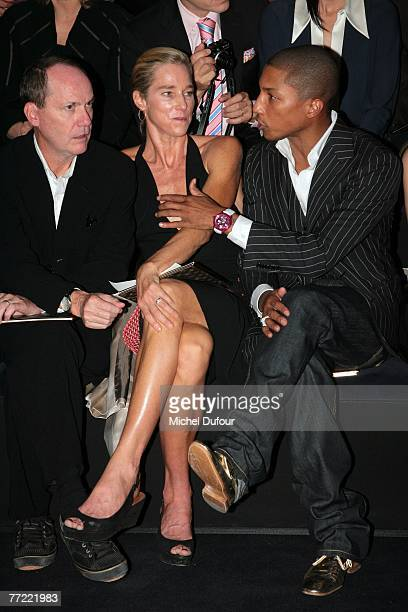 Richard Prince, his wife and William Farrel attends the Louis Vuitton fashion show, during the Spring/Summer 2008 ready-to-wear collection show at...