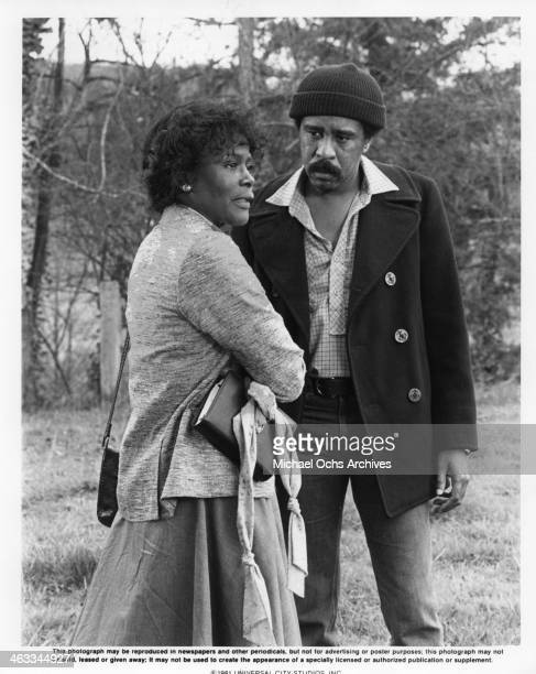 Richard Pryor and Cicely Tyson appear in a scene from the movie 'Bustin' Loose' which was released in 1981