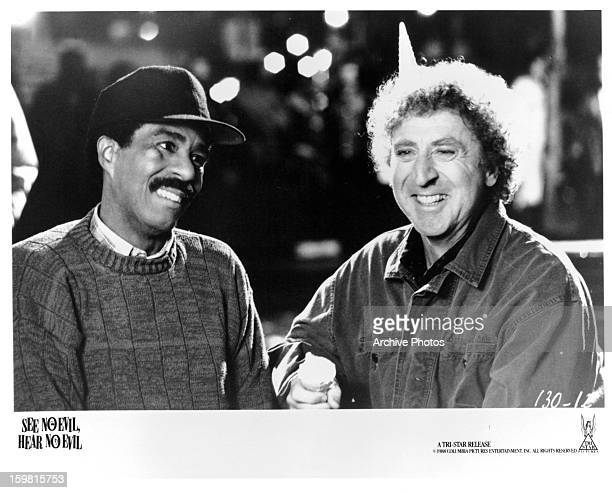 Richard Pryor and Gene Wilder in a scene from the film 'See No Evil, Hear No Evil', 1989.
