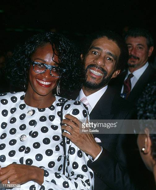 Richard Pryor and guest during Mike Tyson vs Michael Spinks Fight at Trump Plaza June 27 1988 at Trump Plaza in Atlantic City New Jersey United States