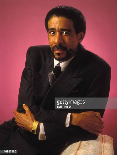 Richard Pryor during Photo Session with Comedian Richard Pryor at Beverly Hills Hotel in Beverly Hills California United States