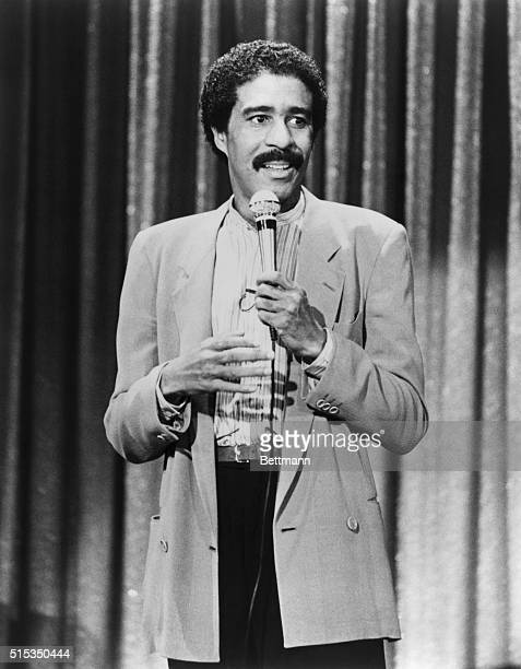 Richard Pryor performs his standup comedy routine in a scene from his 1982 movie Richard Pryor Live on the Sunset Strip