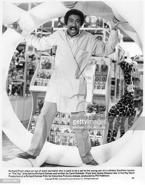 Richard Pryor plays an outofwork jounalist who is paid to be the pal to the young son of a ruthless Southern tycoon in a scene from the movie The Toy...
