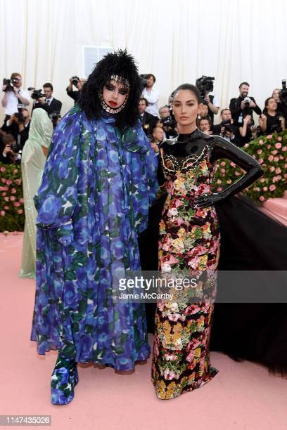 Richard Quinn and Lily Aldridge attend The 2019 Met Gala Celebrating Camp: Notes on Fashion at Metropolitan Museum of Art on May 06, 2019 in New York...