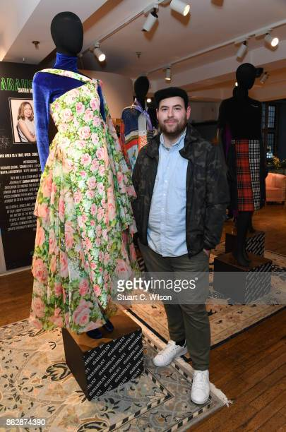 Richard Quinn at the launch of Liberty London's emerging fashion talent initiative #SarahsList with renowned fashion critic, Sarah Mower on October...