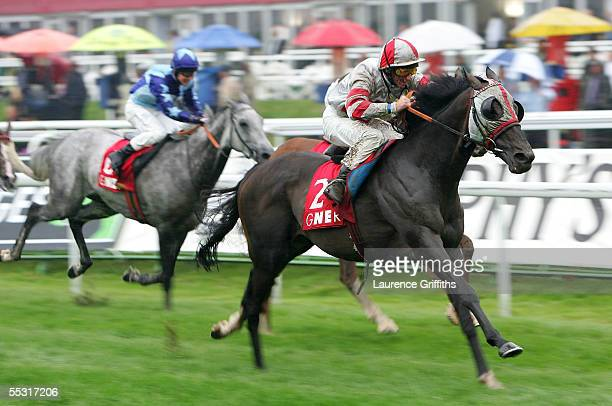 Richard Quinn on Millenary rides to victory in the GNER Doncaster Cups during The Ladbrokes St Leger Festival at Doncaster Race Course on September...