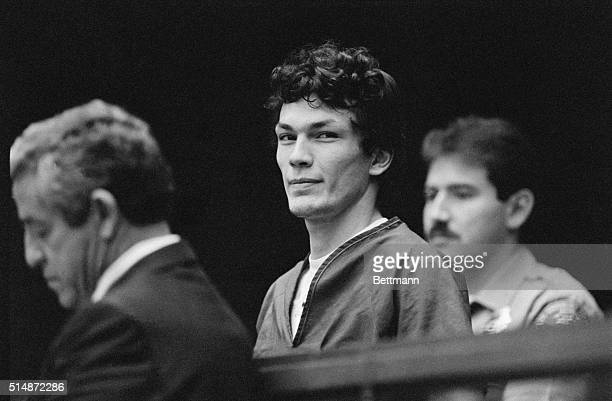 """Richard Ramirez, accused of being the serial killer called the """"Night Stalker"""", appears in court to fire his public defenders and hire a private..."""