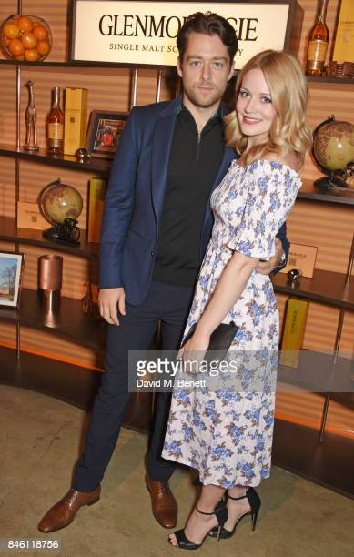 Richard Rankin and Cara Theobold attend the launch of the 'Beyond The Cask' collaboration between Glenmorangie and Renovo at Behind The Bikeshed on...