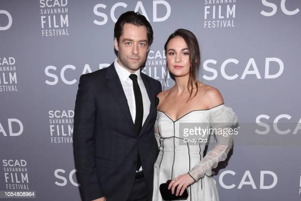 Richard Rankin and Sophie Skelton the 21st SCAD Savannah Film Festival Red Carpet for Outlander Season Four on October 28 2018 in Savannah Georgia